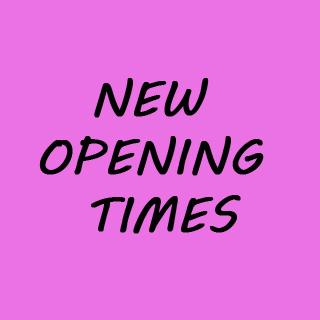 NEW OPENING TIMES FROM NOVEMBER