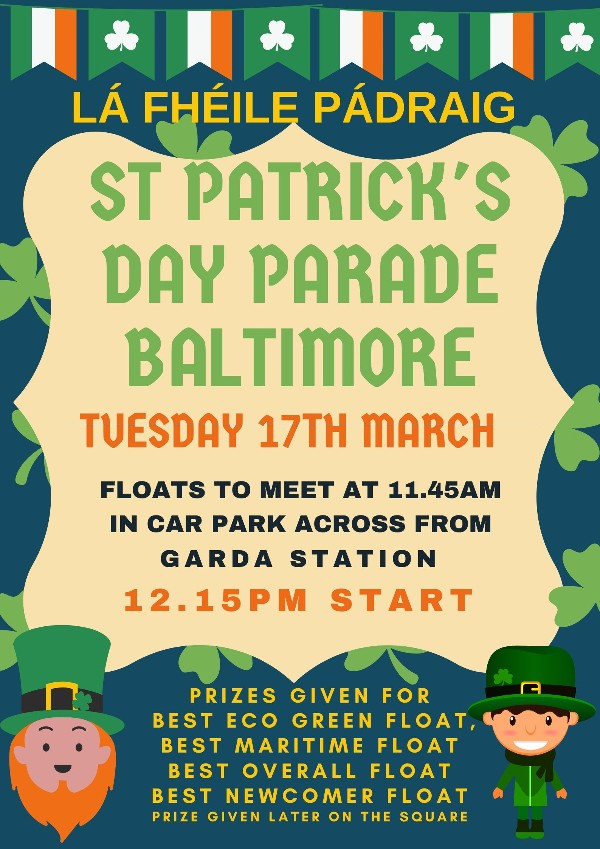 St Patrick's Weekend from the 13th to the 18th of March